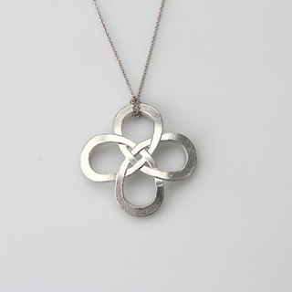 Pure tin necklace (knot)