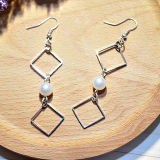 Alloy framed * I * _ you hook earrings