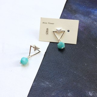 Miss Flora | 925 silver-simple amazonite earrings