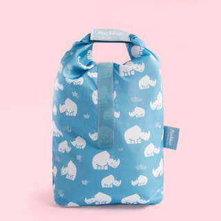 Good day | Pockeat green food bag (large food bag) - rhinoceros