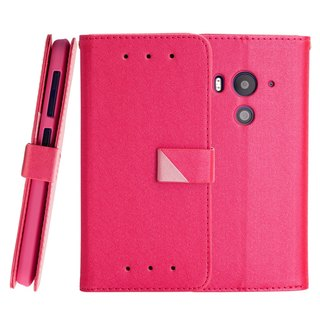 CASE SHOP HTC Butterfly 3 Dedicated Side Stand Stand Leather Case - Powder