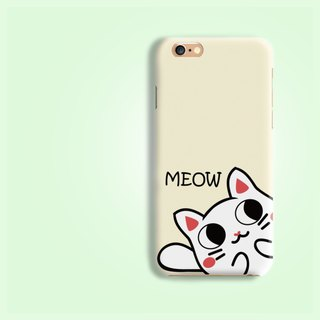 CURIOUS CAT Matt hard Phone Case iPhone X 8 8 plus 7 6 5 S8 J7 Note 8 5 z5 +