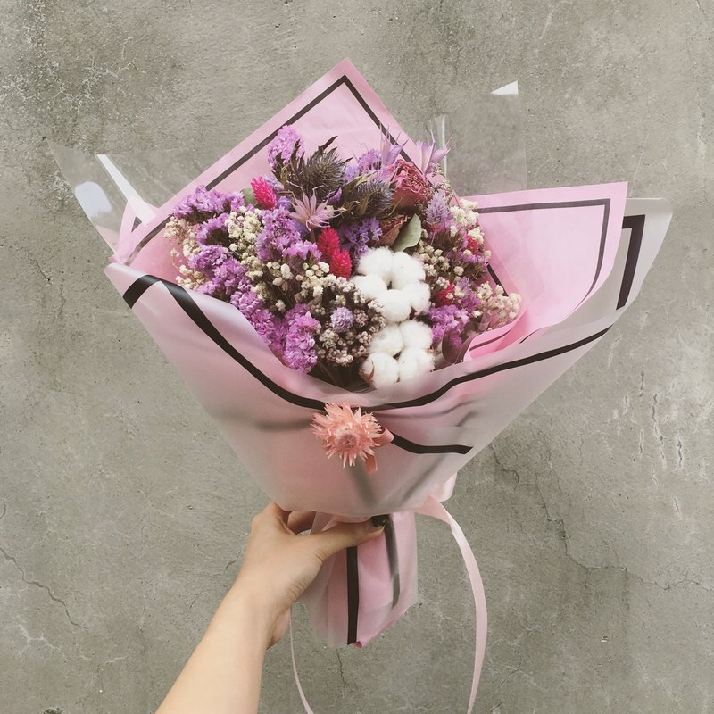 Pink Dry Flower Bouquet Large