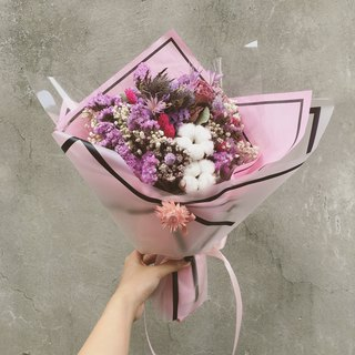 Pink Dry Flower Bouquet - (Large)