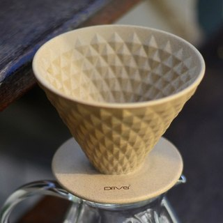 Driver Pitcher Ceramic Filter Cup (Brown) - Stainless Steel Filter Paper