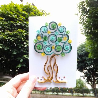 Hand made decorative cards-tree