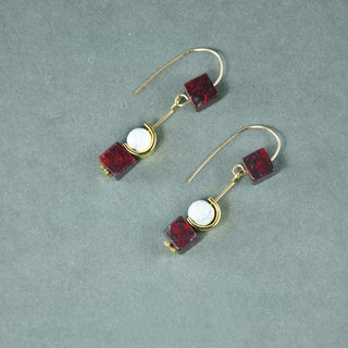Modern Marble 14KGF Earrings (Fashionable) (Christmas Gift) (Birthday Gift)