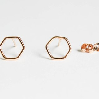 Earrings - Hexagon frame