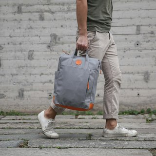 Multi-Functional Water-resistant Handmade Canvas Backpack Grey