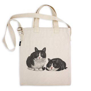 AMO®Original Tote Bags/AKE/Twin Cats With Big Eyes
