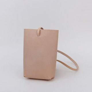 Handmade vegetable tanned leather shoulder bag with a simple simple tote diagonal cross toddler women