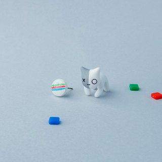 Van BT21 Cat - Polymer Clay Earrings, Handmade&Handpaited Catlover Gift