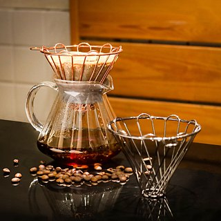 Driver Wia Coffee Filter Cup Set (Titanium Black)