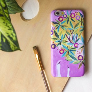 Gooses' date under the colorful flowers tree(Purple). Matte Case (iPhone, HTC, Samsung, Sony)