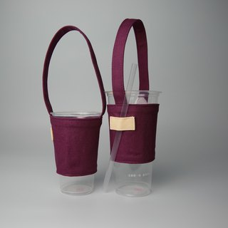 Pu.sozo cloth hand made colorful series - grape purple green cup set drink cup set drink bag