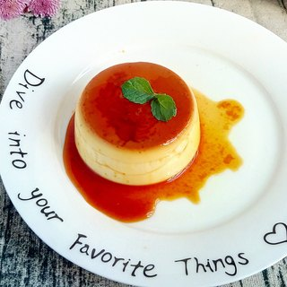 French roasted caramel pudding into a set of four gift boxes