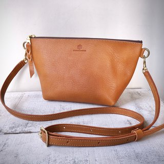 JAPAN Leather Nume Leather Handbag Shoulder Pouch barco L Camel