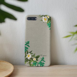 mix fern Daisy flower iphone case สำหรับ iphone7  iphone8, iphone8 plus ,iphonex
