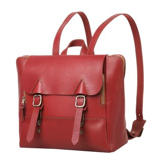 JIMMY RACING leather portable diagonal back 3way briefcase - deep red 04166017