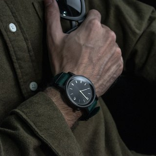 PRIME 1.0.1 Dark Hardwood Wooden Watch - Forest Green 42mm