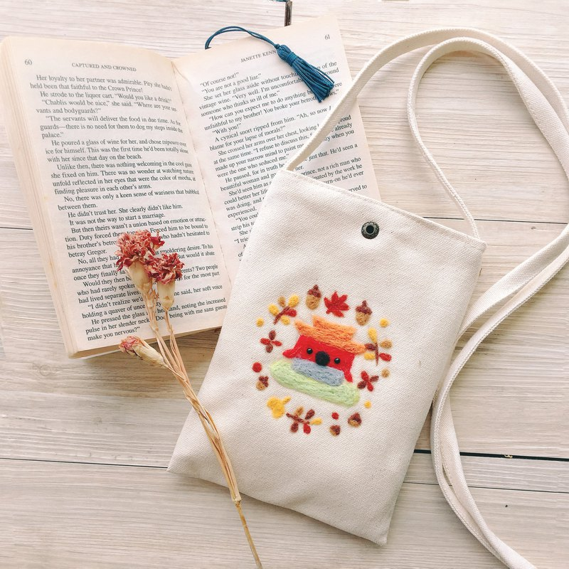Customizable What Patterns Can Be Wool Felt Embroidery Cross Body