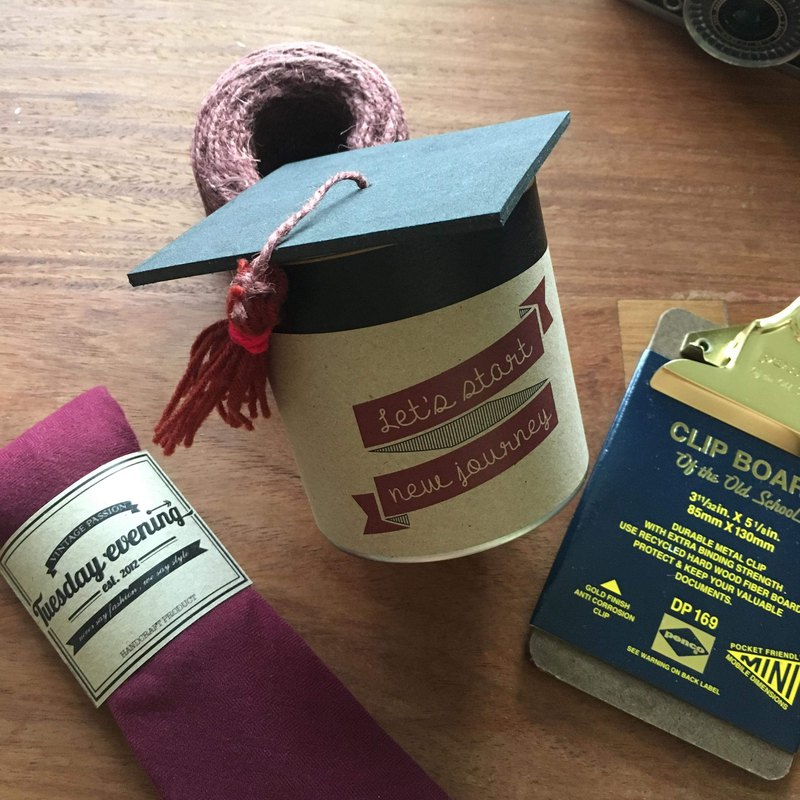 Custom Made - Special package/ gift can for Graduation Day