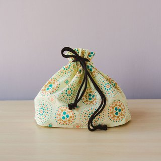 Traveling Purse-String Bag-L / Firework / Lemonade