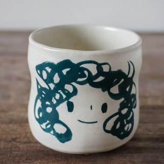 Brut Cake Handmade pottery - smiling mug (not to) 260ml-17