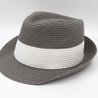 [Paper cloth home] two-color gentleman hat (gray) paper thread weaving