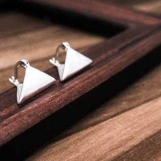Minimalist Hand Made Triangle Silver Earrings - ART64