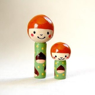 * Kokeshi * chestnut seminal parent and child * [2]