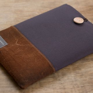 "Tablet case iPad Pro 9.7 ""iPad Air Kindle iPad mini cover / Charcoal & Brown"