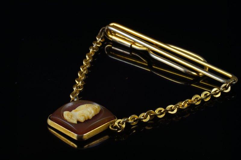 58d68a436533 [C'est Cufflinks] SWANK vintage samurai chain tie clip - Designer cufflinks  | Pinkoi