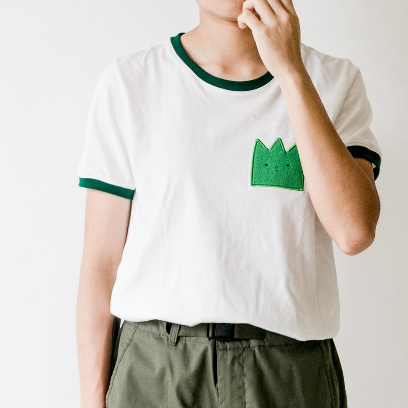 // Wall Grass // Trim Cotton Top