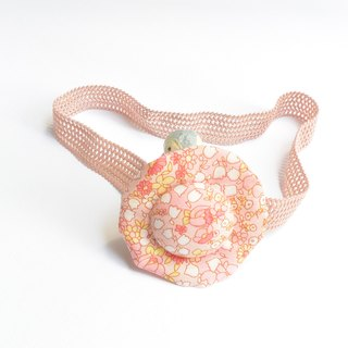 Baby hair band - red floral