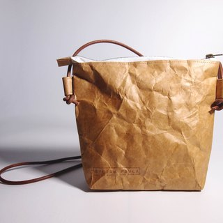 washable craft paper (kraft) crossbody bag