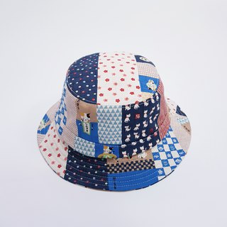 British disc gentleman hat Japanese fishing goldfish cat blue 2018 summer new product #日本布#和风