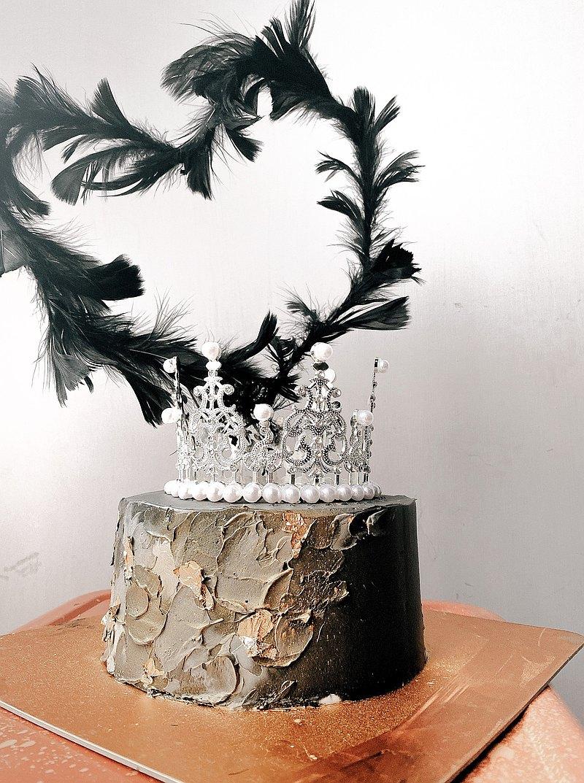 【客製化蛋糕】黑天鵝風格蛋糕