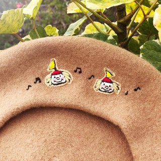 Koko Loves Dessert // I sell you youth - Embroidery twins Beret
