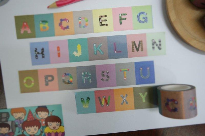 菜鸟先生 字母ABC 紙膠帶
