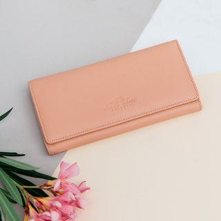 'POPPY' WOMAN LONG LEATHER WALLET-PINK