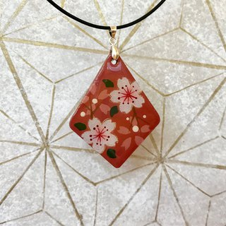 Red Cherry Blossoms Pendant, Japanese style