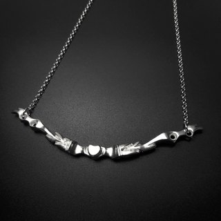 R6-925 Sterling Silver Necklace - Help you design letters + numbers