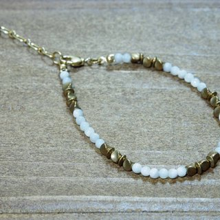 -- la-joie -- White Shell /// Natural Stone x Bracelet ///_17BL002-1_My Lady Series