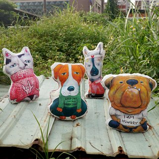 Wandering pillow X sit a full range of X Street dog and wave cat