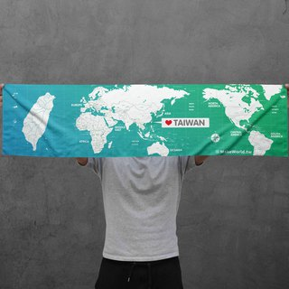 Make World map manufacturing sports towel (gradation Taiwan)