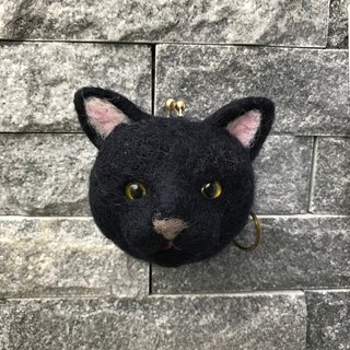 """Black Cat"" felting- mouth gold package"