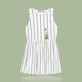 [Exclusive limited] more gentle and very good / thin straight straight sleeveless dress