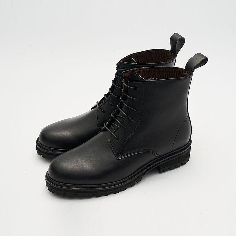 Gullar 六孔馬丁男鞋-素食皮鞋(黑色)