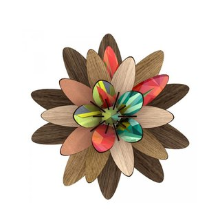 Italy MIHO wooden design flower wall hangings (Flower-Freezing Vibrations)